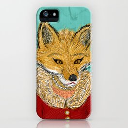 Sophisticated Fox Art Print iPhone Case