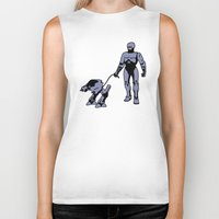 robocop Biker Tanks featuring Robocop by dutyfreak