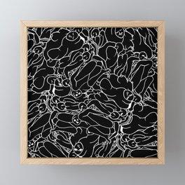 Fifty shades of Love (Dark) Framed Mini Art Print