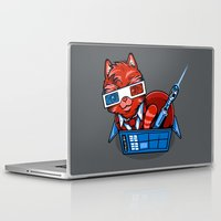 mew Laptop & iPad Skins featuring Doctor Mew by harebrained