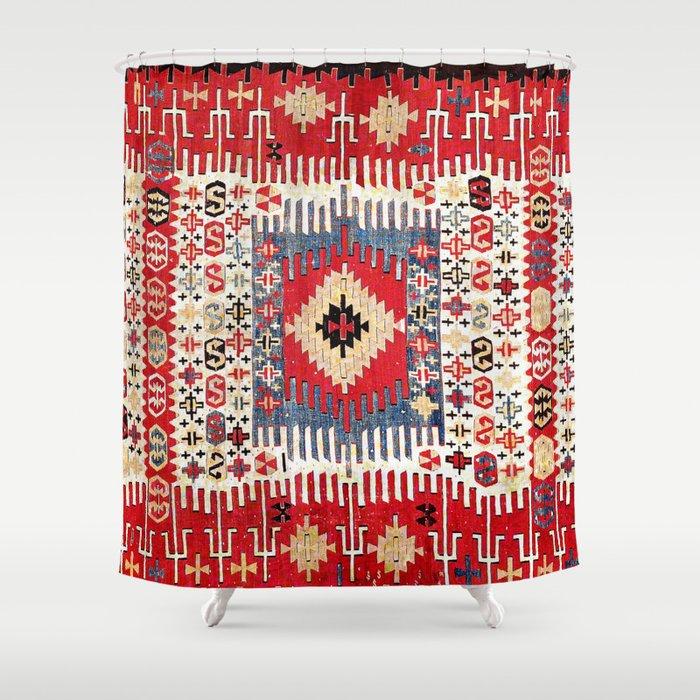 Sivrihisar Eskisehir Province Anatolian Kilim Shower Curtain