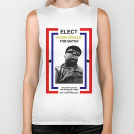 Biggie Smalls for Mayor Biker Tank