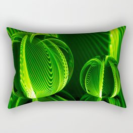 Lime lines in the glass balls. Rectangular Pillow