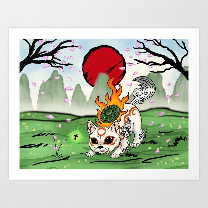 Baby Okami Art Print By Juaniglesiasart Society6