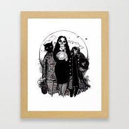 Halloween Trio Framed Art Print