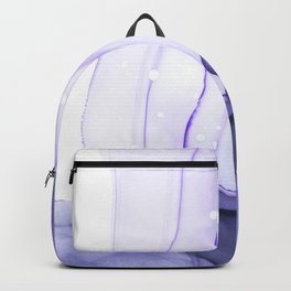 Lavender Tides Abstract FluidInk Backpack