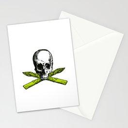 skull asparagus Stationery Cards