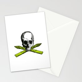 skull asparagus Stationery Cards