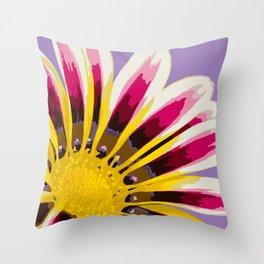 Bright Daisy Illustrated Print Throw Pillow