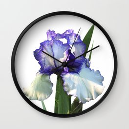 Iris 'Freedom Song' on white Wall Clock