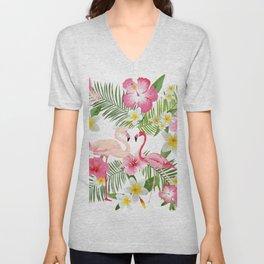 Pink Flamingo Unisex V-Neck