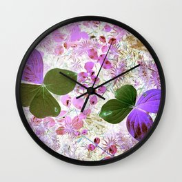 Unidentified inverted fauna Wall Clock