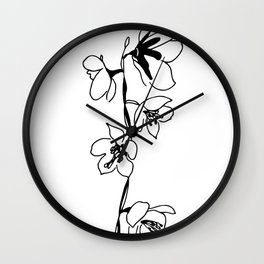 Large-flowered Wintergreen Wall Clock