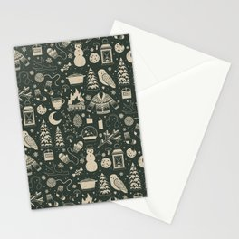 Winter Nights: Forest Stationery Cards