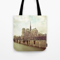 Notre Dame Cathedral on the Seine Tote Bag