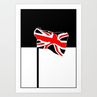 union jack Art Prints featuring Union Jack by Visually Interesting