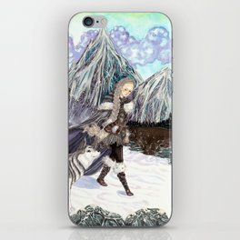 Goddess of Winter and Hunt iPhone Skin