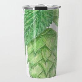 Beer Hop Flowers Travel Mug