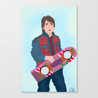 marty mcfly Canvas Prints featuring McFly by Ana Maia