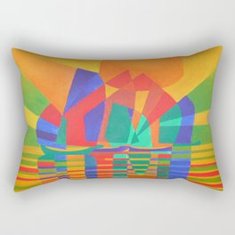 Dreamboat - Cubist Junk In Primary Colors Rectangular Pillow