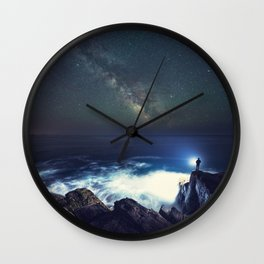 Searching the Stars Wall Clock