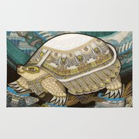 turtle Area & Throw Rugs featuring Turtle by Yuliya