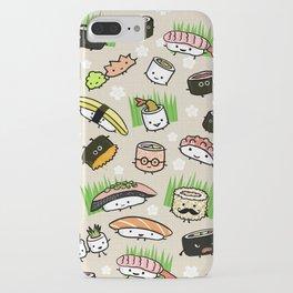 Kawaii Sushi Friends | Cute Assortment of Sushi Rolls, Sashimi, Wasabi, Ginger iPhone Case