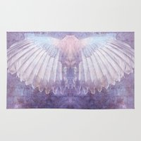 wings Area & Throw Rugs featuring WINGS by INA FineArt