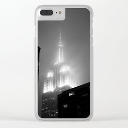 NYC in the rain Clear iPhone Case