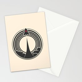 Space Rocket Stationery Cards