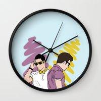 klaine Wall Clocks featuring Klaine by wellsi