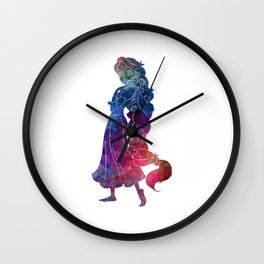 Rapunzel 01 in watercolor Wall Clock