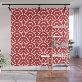 Fan Pattern Red 118 Wall Mural