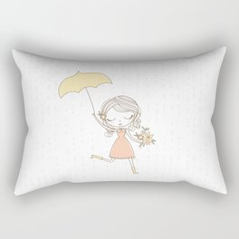 April Showers bring May Flowers Rectangular Pillow