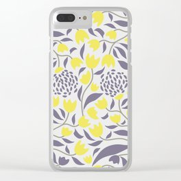 Yellow flowers field Clear iPhone Case