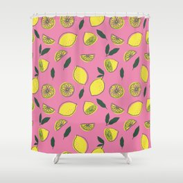 Pink Lemonade Pattern Shower Curtain