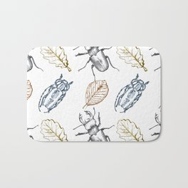 Bugs and leaves Bath Mat