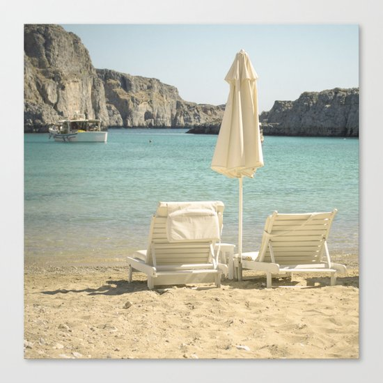 Seating under the Sun Canvas Print