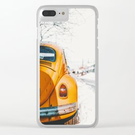 Yellow Taxi (Color) Clear iPhone Case