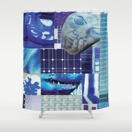 Collage - Just Blue Shower Curtain