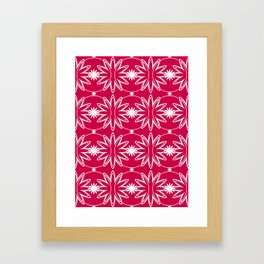 Red & White Pattern Framed Art Print