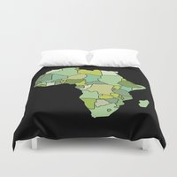 south africa Duvet Covers featuring Africa by Emir Simsek