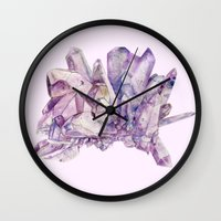 crystals Wall Clocks featuring Crystals by my first palette