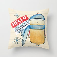 Cheeky Bird Throw Pillow