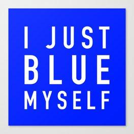 Blue Myself (White) - Arrested Development Canvas Print