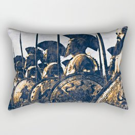 Battles of ancient Sparta Rectangular Pillow