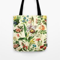 botanical Tote Bags featuring Botanical by bbay