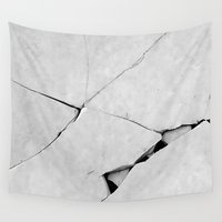 ed sheeran Wall Tapestries featuring CRACK(ed) by InteriorEpiphanies