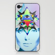 Psychedelic Woman iPhone & iPod Skin