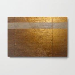 Dariusz Stolarzyn Gold and White Oil Painting Metal Print